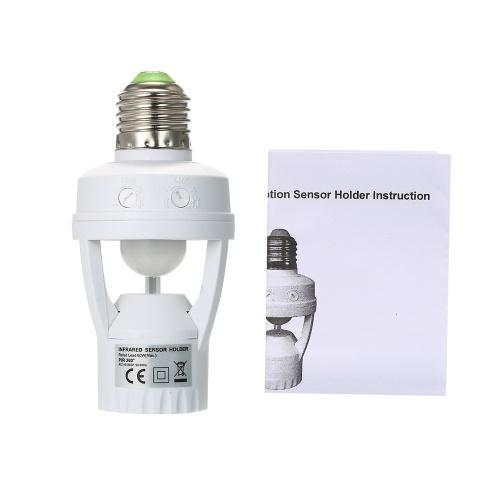 AC110-220V 360 Grad PIR Induktionsbewegungssensor IR Menschlicher Infrarotdetektor E27 Steckdose Schalterfuß Led Lampe Licht Sensor Lampenfassung