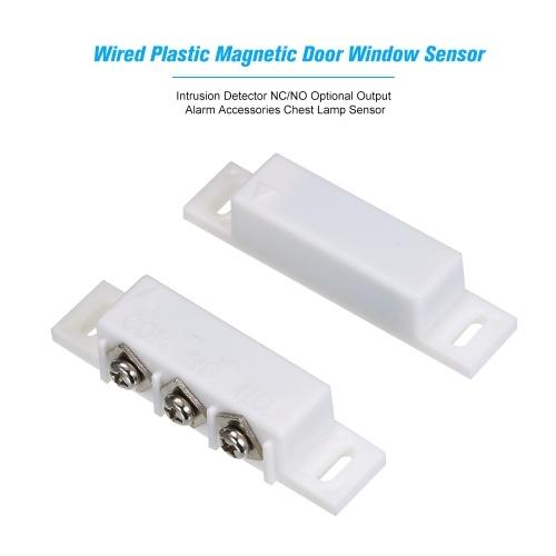 Verdrahteter Kunststoff-Magnetschalter Türfenster Offen Einbruchmelder NC / NO Optionale Ausgabe Alarm Zubehör Brustlampensensor