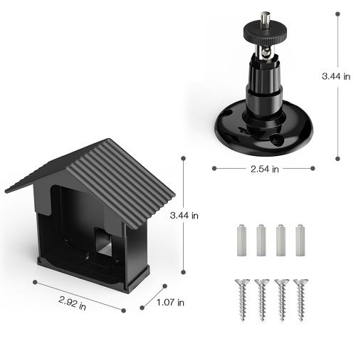 Комплект кронштейна для настенного крепления для камеры Blink XT Защитный кожух на 360 градусов Защитная регулируемая крышка для установки на открытом воздухе и защитная крышка для камеры Blink XT Anti Glare UV Camera Security System, черный 3 упаковки фото