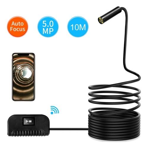 inskam109A 5.0MP WIFI Многофункциональный ультра HD эндоскоп с автофокусом IP68 Промышленные эндоскопы для дома с 4 светодиодами