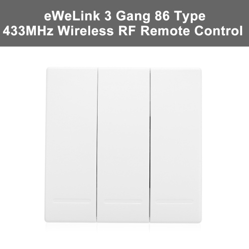 eWeLink Push Button Wall Light Switch Remote Controller 3 Gang 86 Type  ON/Off Switch Panel 433MHz Wireless RF Remote Control Transmitter with  Stickers