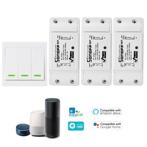 1PCS SONOFF RF Wifi Switch RF 433MHz Compatible with Alexa TOMTOP фото