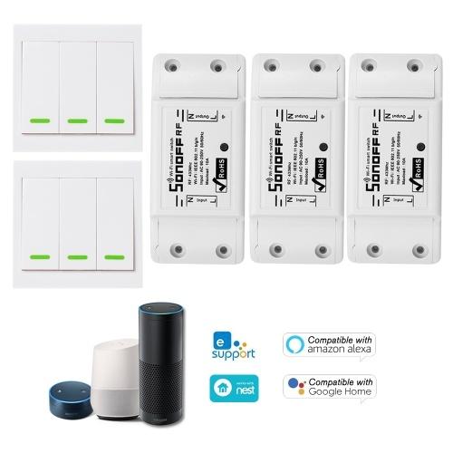 1PCS SONOFF RF Wifi Switch RF 433MHz Compatible con Alexa
