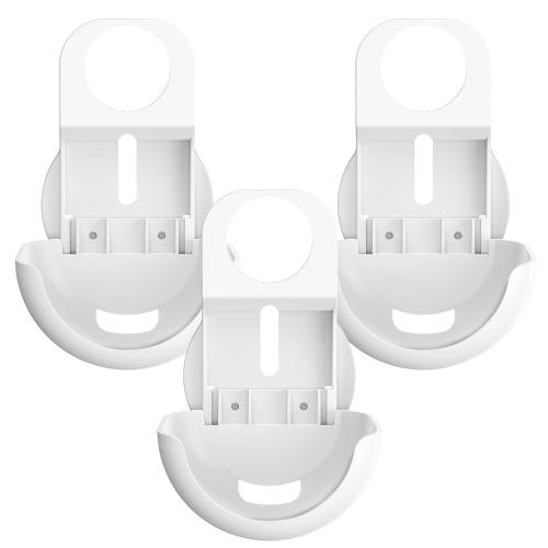 Outlet Wall Mount Holder Only for Google Nest WiFi Router Easy Installation and No Cord Clutter Holder Bracket No Screws, White, 3 Pack