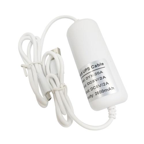 2600mAh Backup UPS Telecamera di sicurezza Cavo caricatore per banca di alimentazione USB UPS