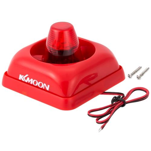 KKmoon  Wired Fire Alarm Siren Sound & Flash Light Alert Horn