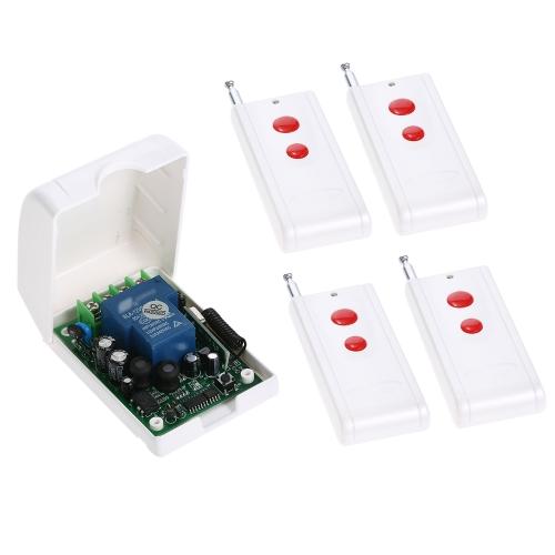 Smart Home 433 Mhz RF AC85V-250V Drahtloser Fernsteuerungsschalter + 4 * Fernbedienung 1527
