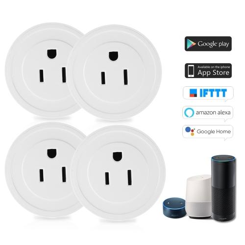 4er Pack Wi-Fi Wireless Mini Smart US-Stecker Kompatibel mit Amazon Alexa & für Google Home / Nest IFTTT für TP-Link
