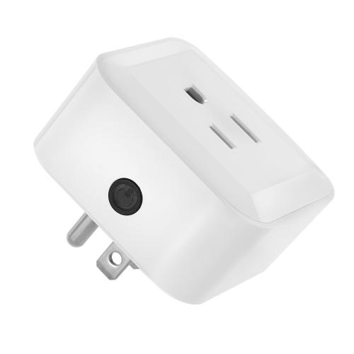 Image de Mini prise intelligente de Wifi avec le commutateur d'activation / désactivation App de soutien de téléphone App n'importe où et n'importe quand Fonction de synchronisation, commande vocale pour Amazon Alexa pour Google Home / Nest IFTTT pour TP-Link (paq