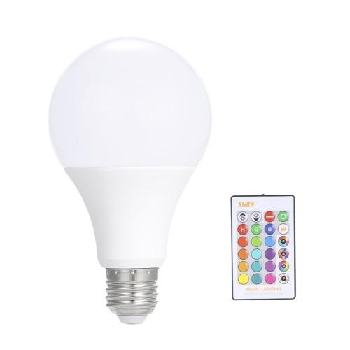 15W RGB LED Lamp E27 Dimmable Bulb Energy Saving Light