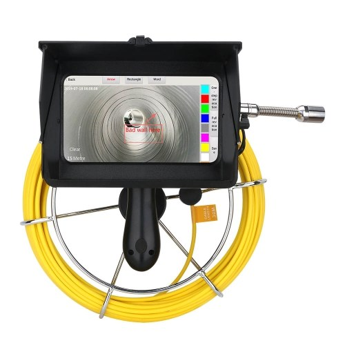 F9600-30M Videocamera portatile per tubazioni AHD da 7 pollici