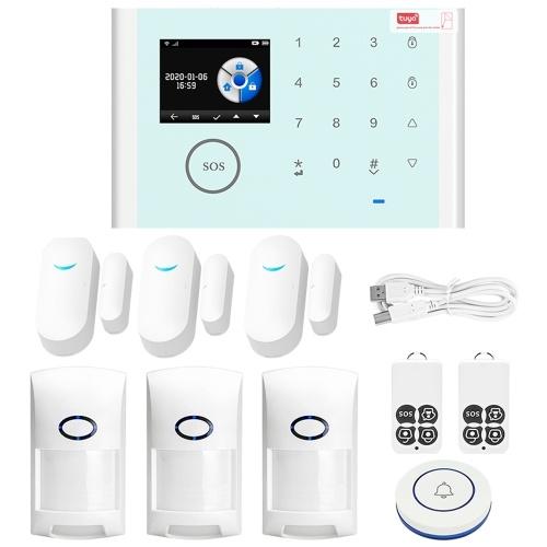 CS118 WiFi + GSM + GPRS 3 en 1 Sistema de alarma inteligente para el hogar en red