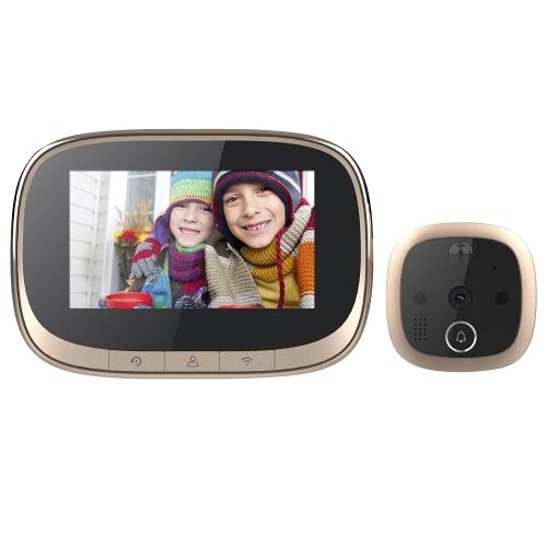 4.3'' WIFI Smart LCD Digital Peephole Door Camera Viewer HD Monitor