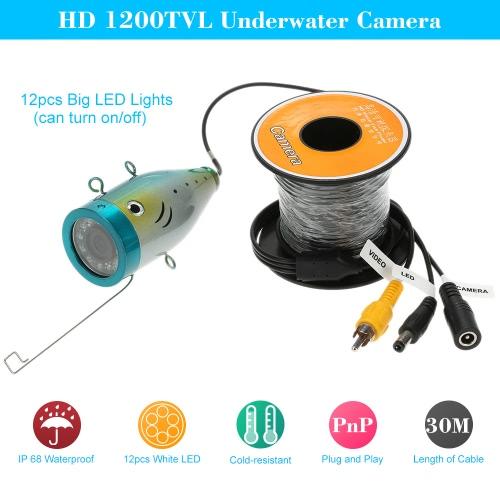 30M HD 1200TVL CCTV Camera Underwater Fish Finder for Ice/Sea/River Fishing
