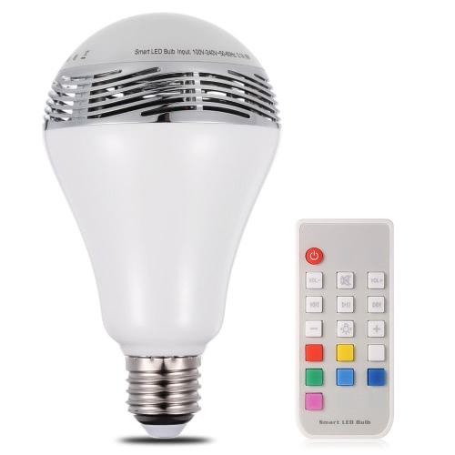 Smart LED E27 Lâmpada de cor clara Intelligent BT Music Audio Speaker Lamp com controle remoto