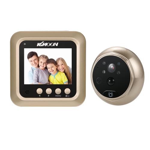 """KKmoon 2.4 """"LCD Digital Peephole Viewer 160 ° PIR Door Eye Doorbell HD Câmera IR Visão noturna Tomada de fotos / gravação de vídeo Detecção de movimento TF Card for Home Security"""