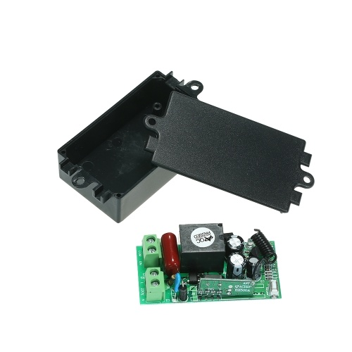 4*433MHz AC180V-240V 1CH Universal 10A Relay Wireless Remote Control Switch Receiver Module and 5PCS 4 Key RF 433MHz Transmitter Remote Controller 1527 Chip