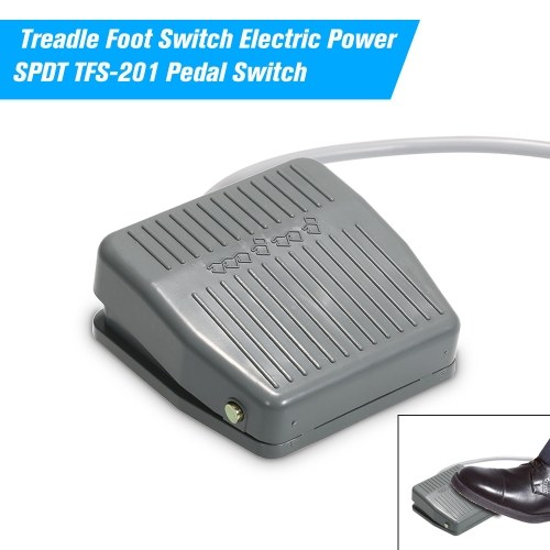 Treadle Foot Switch Electric Power SPDT TFS-201 Pedal Switch DC5-48V / AC24-250V 10A Momentary Control NO/NC Latching Reset Switch