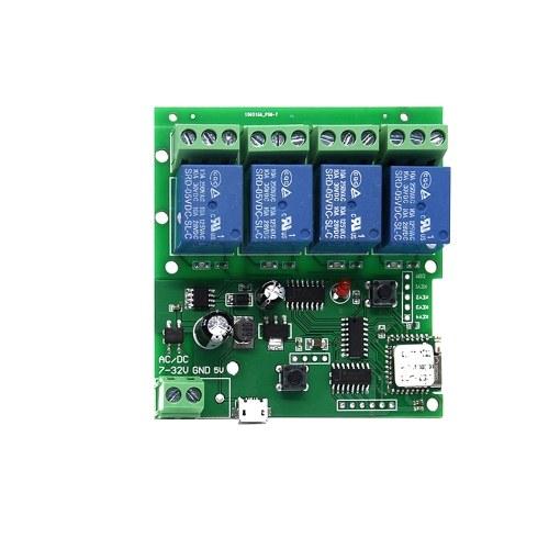 Sonoff 4CH-5V / 7-32Vスマートリモートコントロールワイヤレススイッチユニバーサルモジュール