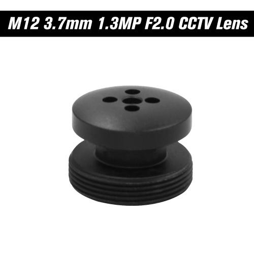 Montagem da lente M12 do botão de M12 de 3.7mm, 1.3 Megapixel a íris fixa F2.0 do ângulo de visão horizontal de 80degree para câmeras do CCTV