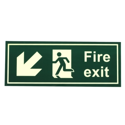 Fire Safety Exit Sign Warning Guidance Signage Luminous