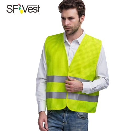 High Visibility Reflective Safety Vest Reflective Polyester Knitted Vest Workwear Security Working Clothes Petrol Station Day Night Warning Safety Waistcoat фото