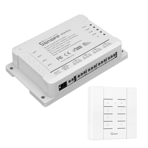 Wifi Interruptor Inteligente de 4 vias de Montagem em Trilho Din Automação Residencial Auto Bloqueio de Controle de Intertravamento Eletrodomésticos