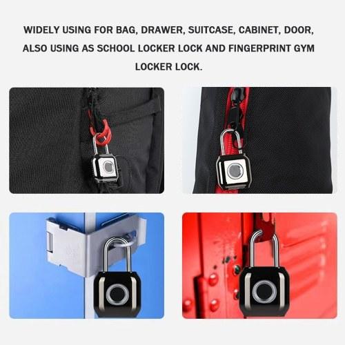 Waterproof Intelligent Fingerprint Lock Electronic Thief Resistant Locks Home Secure Safety Padlock