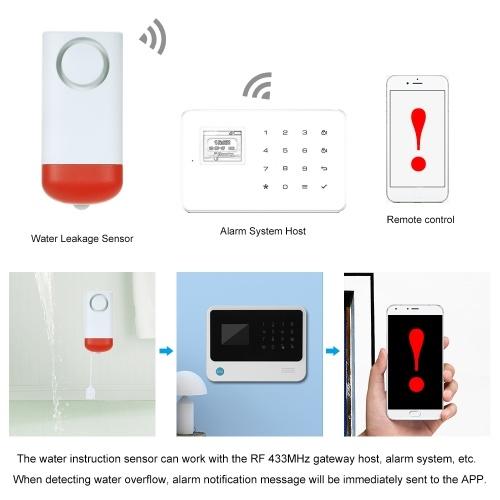 433MHz Wireless Water Leakage Sensor/ Standalone Water Leaks Intrusion Detector