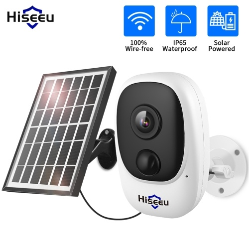 Solar Security Camera 1080P HD Wireless WiFi Rechargeable Battery Powered Camera