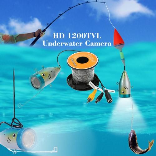 50M HD 1200TVL CCTV câmera subaquática Fish Finder para pesca de rio/mar/gelo