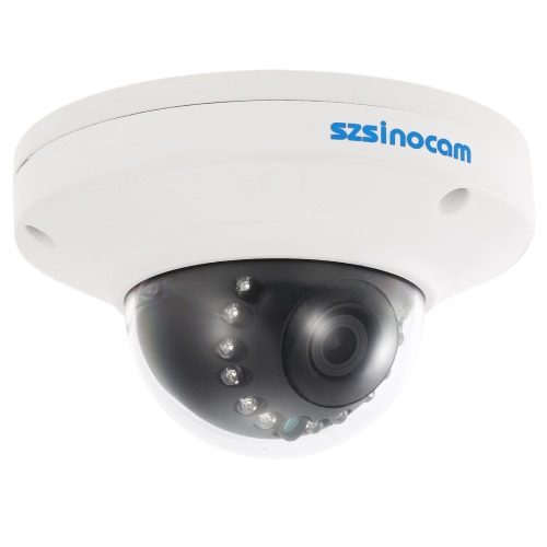szsinocam  1080P HD POE Dome IP Camera 2.0MP 12 IR LEDS 1/3'' CMOS H.264 P2P Onvif Weatherproof Support Motion Detection Phone APP Control Night Vision for CCTV Security