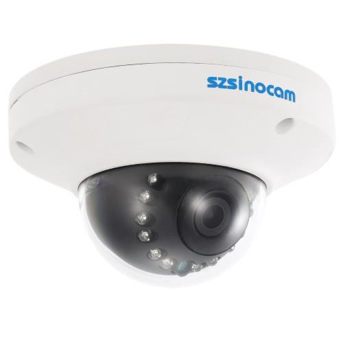 szsinocam 1080P HD POEドームIPカメラ2.0MP 12赤外線LED 1/3 '' CMOS H.264 P2P ONVIF耐候CCTVセキュリティのサポートモーション検知電話APPコントロールナイトビジョン