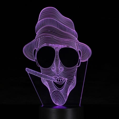 Kreative 3D LED Illusion bunte Tisch Nachtlicht mit Fernbedienung