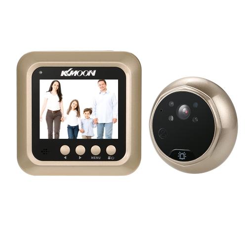 """KKmoon 2.4 """"LCD Digital Peephole Viewer 160 ° Door Eye Doorbell HD IR Camera"""