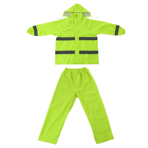Raincoat Suit with Reflective Stripes for Men and Women Size XXL