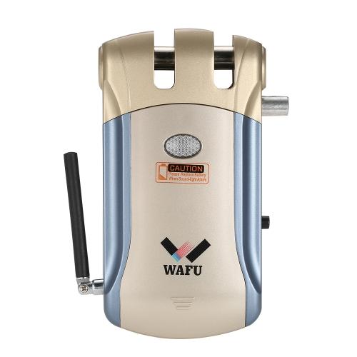WAFU Controle Remoto Sem Fio Bloqueio Eletrônico Invisível Bloqueio de Porta de Entrada sem Chaveiro com 4 Controladores Remotos