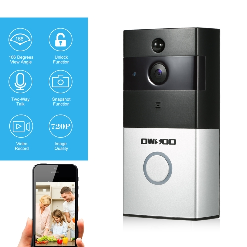 OWSOO 720P WiFi Visual Intercom Door Phone Support Infrared Night View PIR Android IOS APP Remote Control for Door Entry Access Control