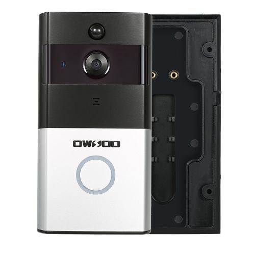 OWSOO 720P WiFi Suporte telefônico visual da porta de intercomunicação Exibição de noite infravermelha PIR Controle remoto do aplicativo IOS para controle de acesso de entrada de porta