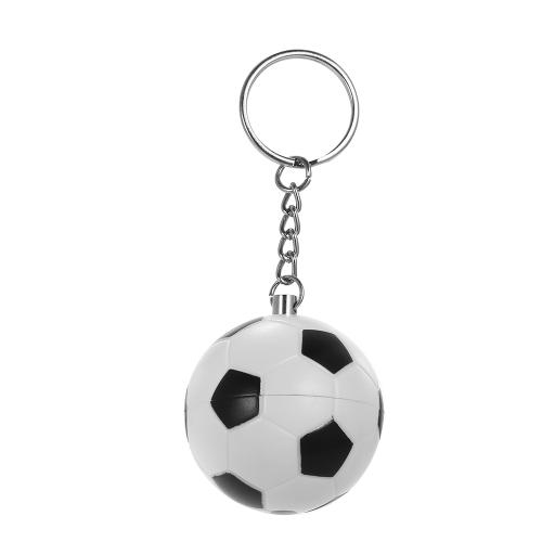 キーチェーンパーソナルセキュリティアラームラウドアラートアンチオルフアラームサッカーシェイプ