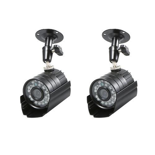 """2 PCS Câmera CCTV 1/3 """"CMOS Cor 1080 P de Alta resolução 24 Lâmpada Nightvison Câmera de Bala Interna À Prova D 'Água Câmera de Segurança Analógica"""