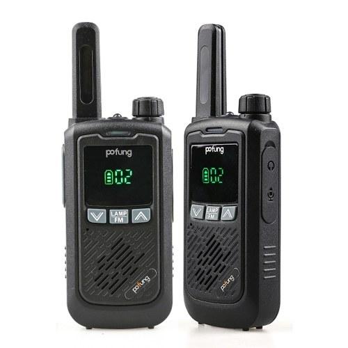 BAOFENG F17 2PCS Mini Walkie Talkie 446.00625- 446.09375 MHz 16CH Portable Handheld Transceiver Interphone VOX Function LED Flashlight FM Two Way Radio