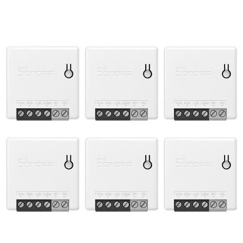 6 PCS SONOFF MINIR2 Itead DIY 2-Way Wi-Fi Smart Switch