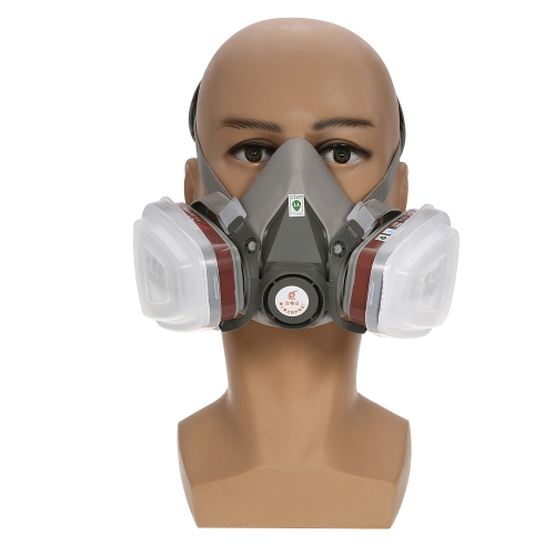 6200 Facepiece Reusable Respirator with  1 Pair of Cartridges+1 Pair of  Retainers +1 Pair of  Filters Gas Mask Respiratory Protection for Life Saving