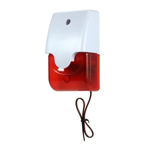 有線ストロボサイレンサウンドアラームストロボ赤信号点滅ホームセキュリティ105dBのアラームシステムを保護する