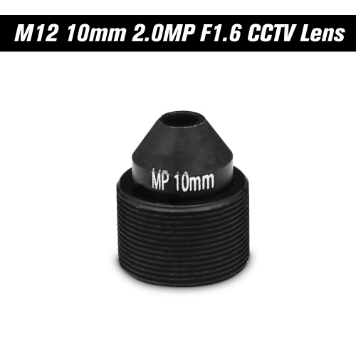 HD 2.0 Megapixel 10mm Lens M12 Pinhole Lens for CCTV Security Cameras, Mount M12*P0.5, Aperture F1.6 Format 1/2.7