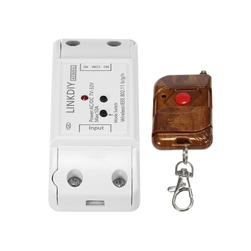 """eWeLink 433Mhz Smart Wifi Switch Universal Wireless Remote Control Switch Module 1CH DC/AC7-32V Timer Phone APP Remote Control Compatible with """"Amazon"""" Alexa Google Home Voice Control With 1 Key RF433MHz Remote Controller for Smart Home"""