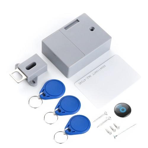 Batería RFID Tarjeta IC Sensor Gabinete Cajón Inteligente SmartLock DIY Invisible Hidde Cerradura digital sin agujero perforado