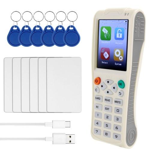 Máquina de llaves de mano iCopy8 con función de decodificación completa Máquina de llaves de tarjeta inteligente Copiadora RFID NFC IC / IDReader Escritor Duplicadora