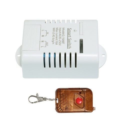 Commutateur WiFi intelligent RF 433 MHz compatible avec les minuteries de commutation sans fil Sonoff et EWeLink 16A / 3500W